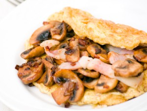 Omelett mit Pilzen