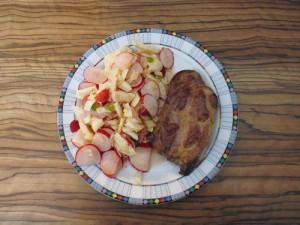 Ibericosteak mit Radieschen-Fenchel-Salat
