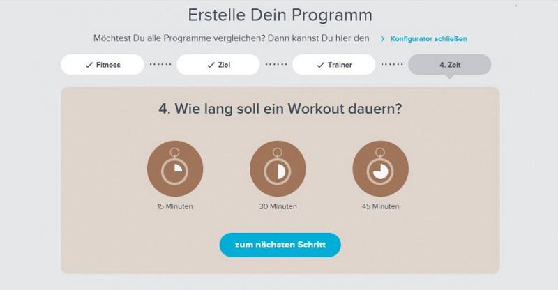 Trainingsplan auswählen